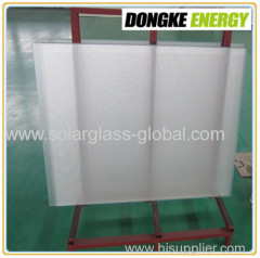 4.0mm Ultra white solar panel glass with AR coating