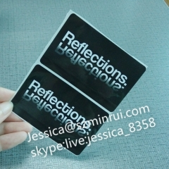 Offer Custom Design Black PET Waterproof Glossy Adhesive Company Information Printing Label