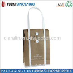 2015 Button Closure Paper Bag for Shopping