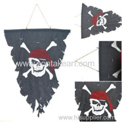 68X95CM WEATHERED PIRATE FLAG