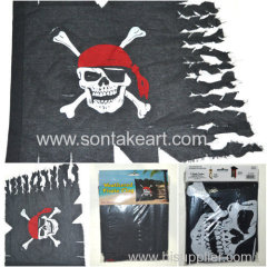 74X95CM WEATHERED PIRATE FLAG