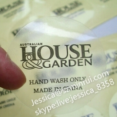 High Quality OEM Waterproof Transparent Self Adhesive Sticker Label Adhesive Sticker Printing
