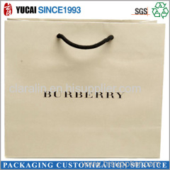 2015 White Customized Shopping Paper Bag