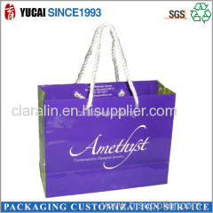 Purple Shopping Paper Box with Customized Signature