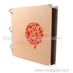 Venta caliente de memoria OEM libro marco papel fotográfico con la imagen de lujo