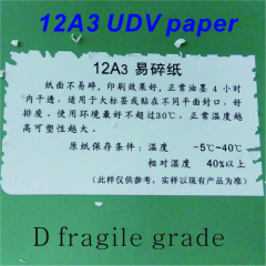Ultra Destructible Vinyl paper Suitable for large label or posted on different plane sealing.Cold weather can be used
