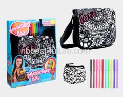 Fashion girl diy drawing bag DIY Craft kits