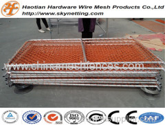 PVC coated chain link temporary fence crowded control barrier queue control barrier