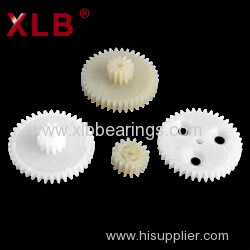 Machining Customized Precision Micro Plastic Double Spur Gear Plastic Gears