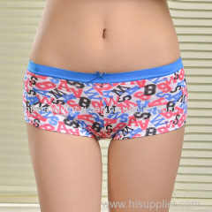 2015 New print sport women underwear soft lady boxer short stretch cotton lady boyshort lady panties lingerie intimate