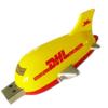 Airplane USB pen in plastic