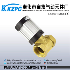2/2 way piston pneumatic control valve with brass body Q22HD