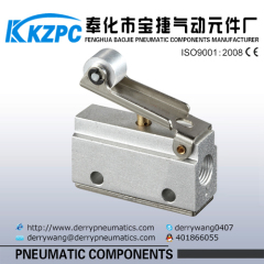 "1/8"" 2 Position 3 Way Roller Lever pneumatic Mechanical Valve"