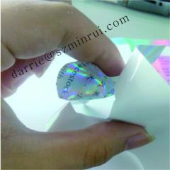 Custom glossy plain Hologram Eggshell sticker papers sheets security hologram .holographic UDV paper