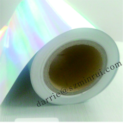 Real manufacture of Ultra Destructive Hologram paper.The material of holographic destructible warranty labels