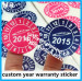 ultra destructible vinyl custom printing round year warranty sticker for electronic