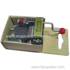 HAND CRANK KRAFT PAPER MUSIC BOXES PVC COVER 18 NOTE YH2 MOVEMENT