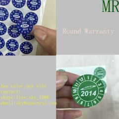 Round Destructible Anti-counterfeiting Label