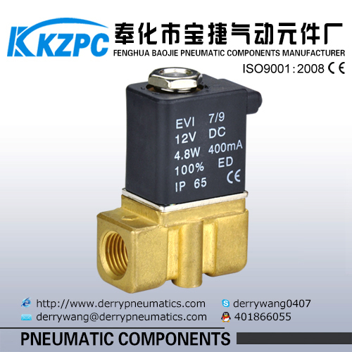 "12V to 220V AC/DC Brass body 2P025-08 1/4"" Bore size Magnetic Valve"