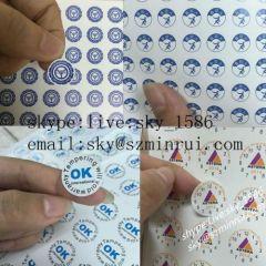 Small Round Warranty Void Stickers