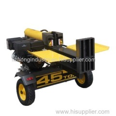 40T diesel engine wood log cutter and splitter