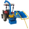 Max 8inch chipping capacity 3 point hitch wood chipper