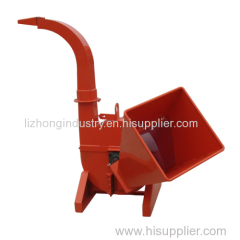 Max 4inch chipping capacity mechanical drum wood chipper