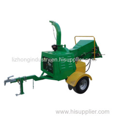 8inch Max Chipping self feeding 40Hp diesel engine hydraulic diesel wood chipper shredder