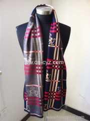 Women's Tricolor Jacquard Scarves