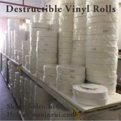 Very Strong Adhesive Ultra Destructible Vinyl Rolls Manufacturer