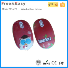 water transfer printed wired mouse