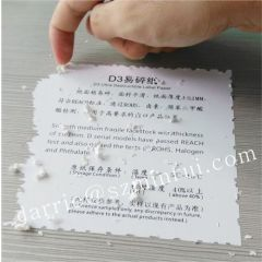 Top self adhesive vinyl producer Hotsale Eco-friendly Ultra destructible adhesive vinyl label materials for printing