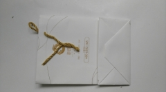 Gold cotton rope white card paper gift packaging bag