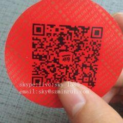 Tamper Evident QR Code Stickers