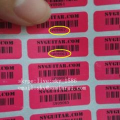 Barcode Anti Theft Labels