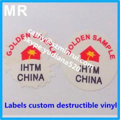 round security fragile label destructible vinyl