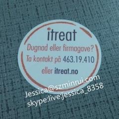 Best Brand Factory Price Custom Waterproof Vinyl Plastic Transparent Clear Circle Stickers