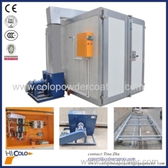 LPG /gas indirect fired heater powder coating oven with front and back doors
