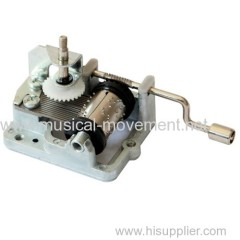 POLY MUSIC BOX HAND WOUND MUSICAL MOVEMENT