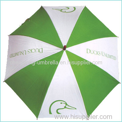 Advertising auto open wooden umbrella