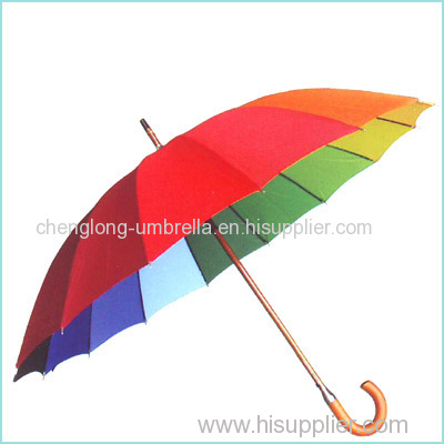 WOODEN 16K RAINBOW UMBRELLA