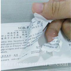 1CB Ultra Destructible Labels paper .brittle label paper