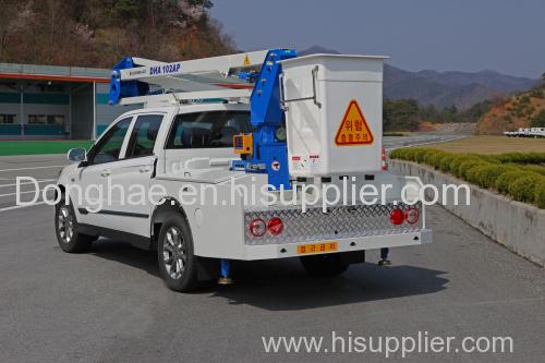 Donghae Aerial working platform truck mounted crane articulated boom crane bucket