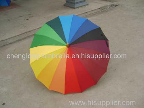 16 colores de automóviles abierto paraguas del arco iris