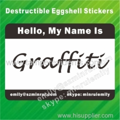 Destructible Vinyl Egg Shell Sticker for Graffiti Lover Street Art