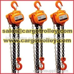 Manual chain hoist pictures and details