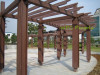 exterior construction wood Anti-split gazebo shedding wpc pergolas