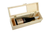 Pine wood wine box for single-side or double-side packaging