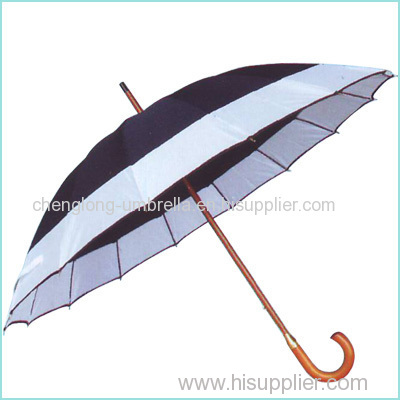 2 color combination auto open wooden umbrella