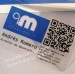 Factory Supply QR Code Anti-counterfeiting Sticker Printing QR Code Label Paper Adhesive Sticker QR Code Label